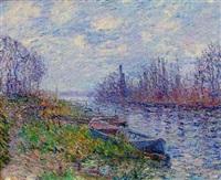 bord de rivière by gustave loiseau