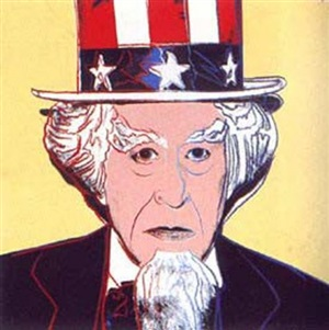 uncle sam (from myths portfolio) by andy warhol