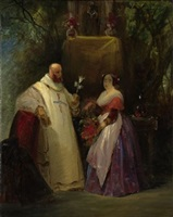 the monk and the young lady by karl blechen