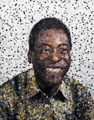 edson (pele') from pictures of magazines by vik muniz