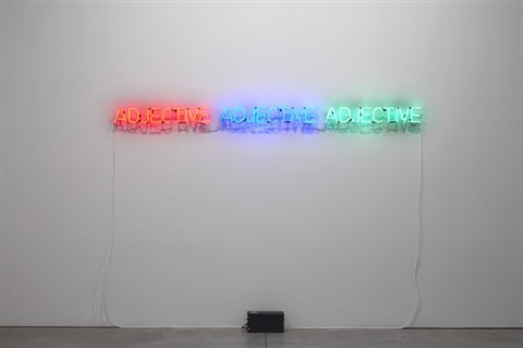 three adjectives described by joseph kosuth