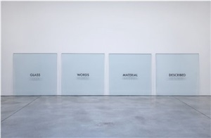 glass words material described by joseph kosuth