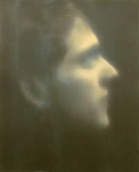 self portrait in profile (102316) by robert stivers