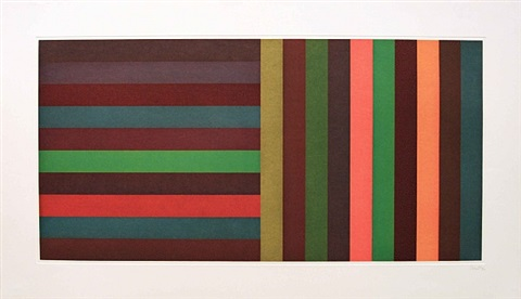 horizontal colour bands and vertical colour bands ii by sol lewitt