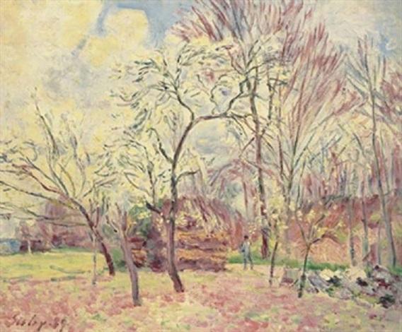 premier jour de printemps à morey by alfred sisley