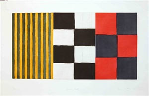 yellow red by sean scully