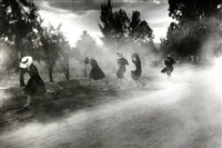dust storm, durango colony, durango, mexico by larry towell