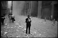 world trade center attack, nyc by larry towell