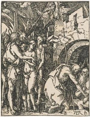 harrowing of hell (christ in limbo) by albrecht dürer