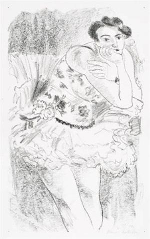 danseuse debout, accoudé by henri matisse
