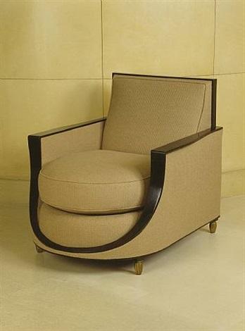 fauteuil en ébène / armchair in macassar ebony by émile jacques ruhlmann