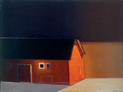 rothko's barn #2 by raimonds staprans
