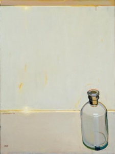 study of the bottle with the dried-in cork by raimonds staprans