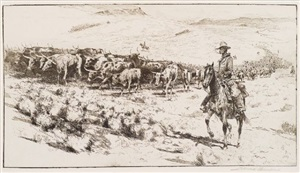 trail herd by edward borein