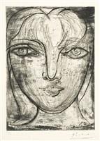 portrait de marie-thérése de face by pablo picasso
