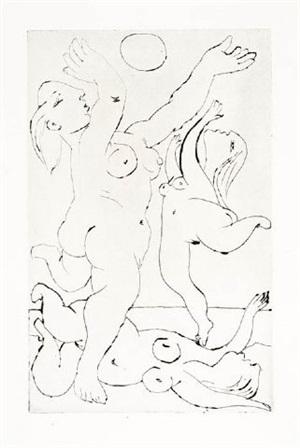 baigneuses au ballon, iii by pablo picasso