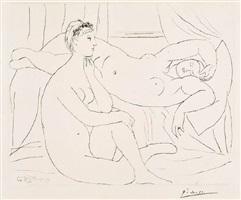 deux femmes se reposant (two women resting) by pablo picasso