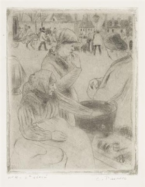 marchand de marrons by camille pissarro