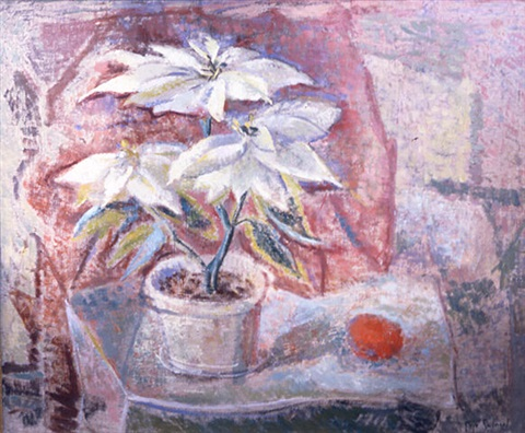 the white poinsettia by faye (swengel) badura