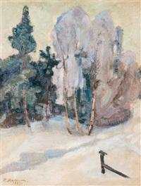 mild winter day in tuusula by pekka halonen