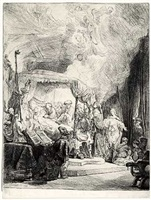 the death of the virgin by rembrandt van rijn
