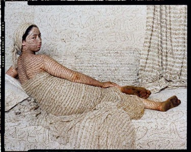 les femmes du maroc: grand odalisque by lalla essaydi