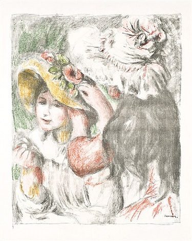 le chapeau epingle, 2 e planche by pierre-auguste renoir