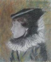 femme à la colorette by louis auguste mathieu legrand