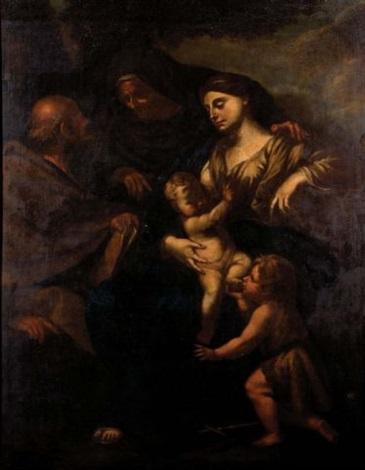 lot #59: sacra famiglia con san giovannino e sant'anna by andrea vaccaro