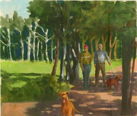 in a park iii by paul john wonner