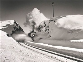 southern pacific steam engine, donner pass, california, 1949 by john dominis ©time inc by life photographers