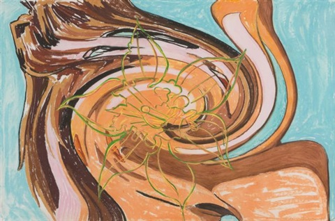 lot #429: untitled (vortex 3) by david salle