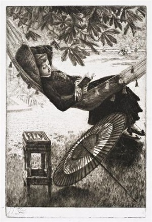 le hamac (the hammock) by james jacques joseph tissot