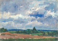 untitled (summer landscape) by eugene leake