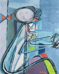 girl at the table by jankel adler