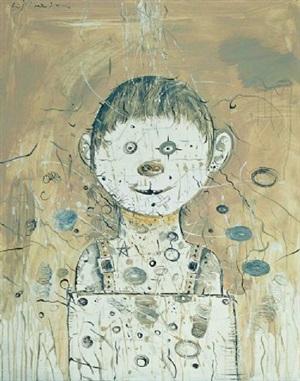 a portrait of a pighead by li jikai