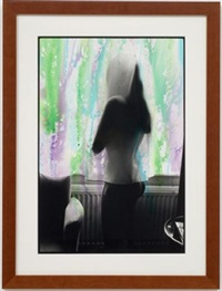 untitled (deanna behind curtain) by ed templeton