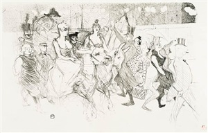 un redoute au moulin rouge (a gala evening at the moulin rouge) by henri de toulouse-lautrec