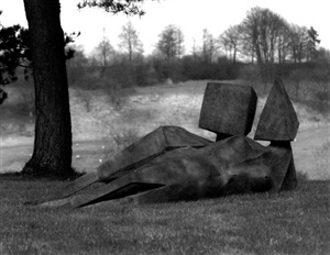 two reclining figures (642) by lynn chadwick