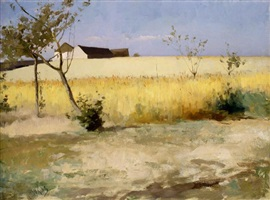 paysage de grez by louis welden hawkins
