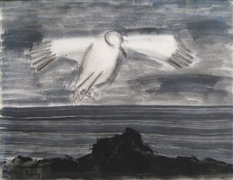 soaring gull by milton avery