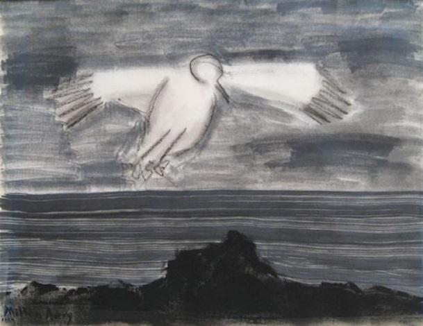 soaring gull by milton avery