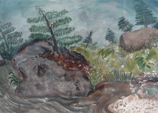 swirling brook by milton avery