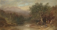 landscape with figures and boat by ralph albert blakelock