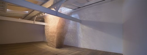 installation view: mikado - joachim elzmann, 2007 by joachim elzmann