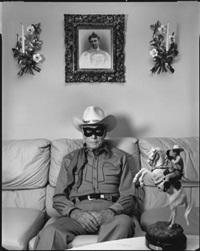 clayton moore, the original lone ranger, los angeles by mary ellen mark