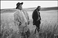 marlon brando and jack nicholson on location in montana, the missouri breaks, billings, montana by mary ellen mark