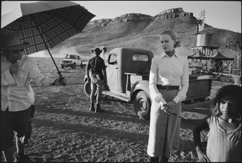 nicole kidman in costume on set, australia, kununurra, australia by mary ellen mark