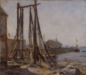 drying nets, provincetown by e. ambrose webster