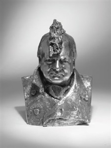 maquette for heroic bust of churchill by marcus harvey